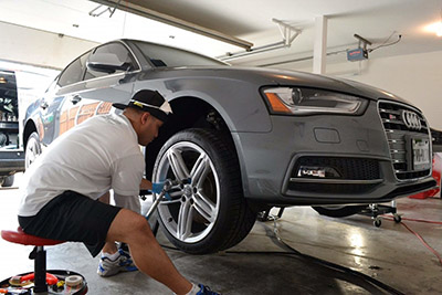 QuickJack Audi Home Garage Repair