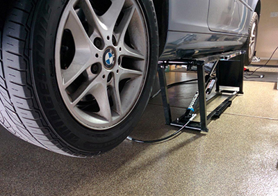 QuickJack Garage Lift with BMW
