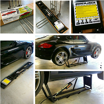 Portable Car Lift for Car Detailing Porsche