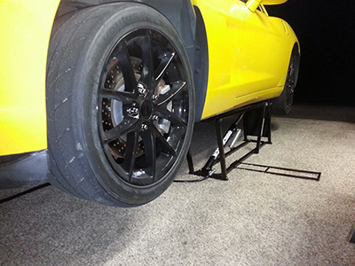 Corvette Carpet Garage with QuickJack Portable EZ Car Lift