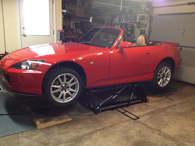 Portable Car Lift for Home Garage Miata Rise