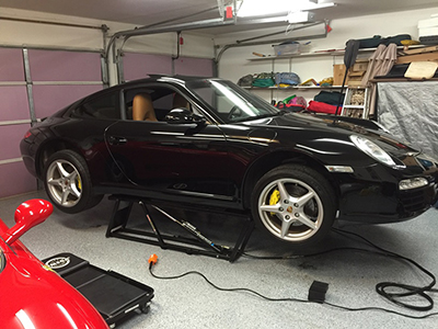 QuickJack Portable Car Lift Porsche Garage